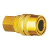 (02)AMERICAN QUICK COUPLER(FEMALE/FEMALE)-BRASS